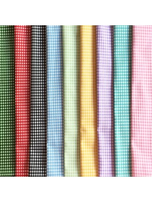 GINGHAM CHECKS - 9 FAT QUARTER PACK