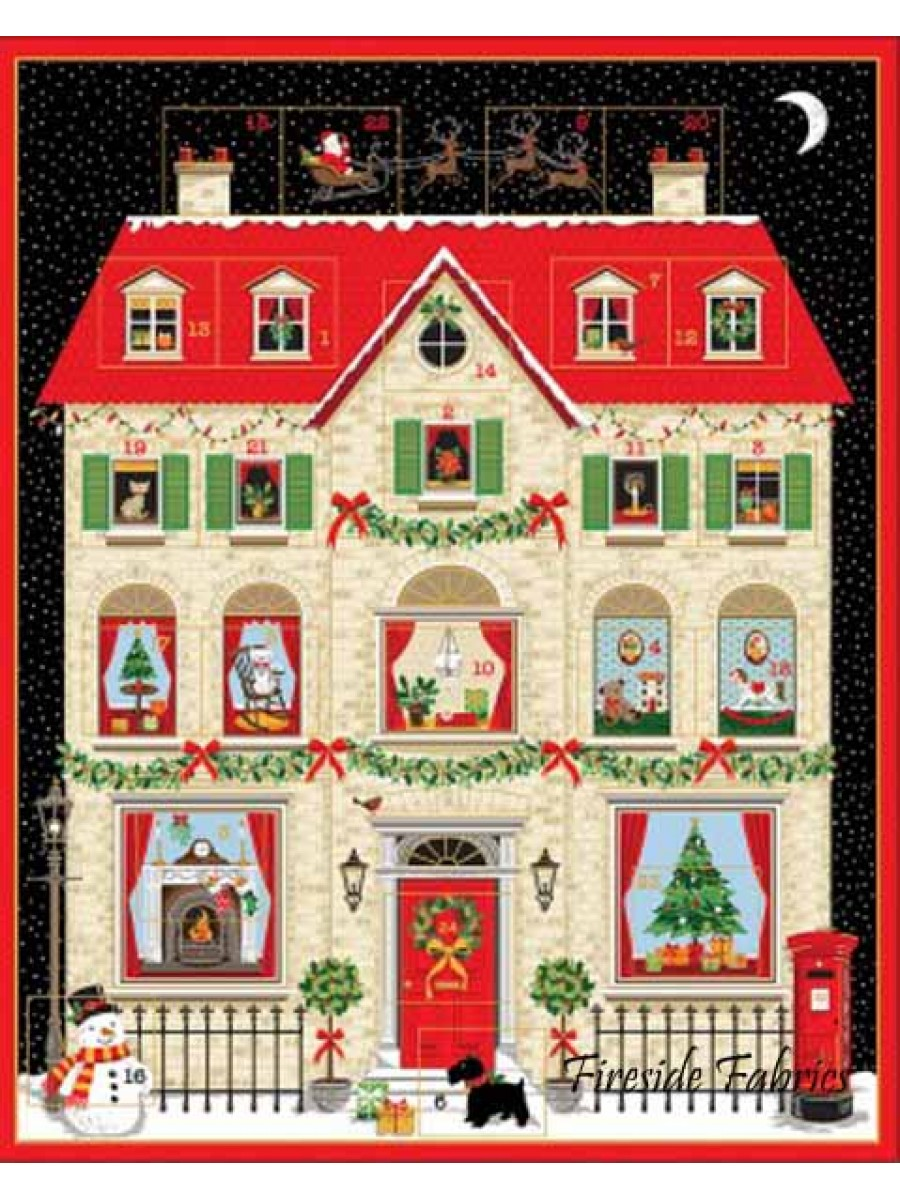 DECK THE HALLS HOUSE ADVENT PANEL