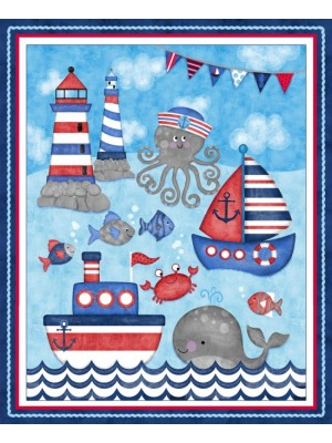 ANCHORS AWAY COT PANEL
