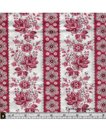 SWEET SIXTEEN - FLORAL STRIPE - RED
