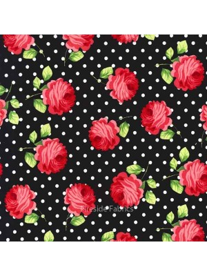 ROSY DOTS - BLACK