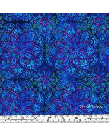 MARIPOSA MEADOWS - MEDALLIONS - BLUE (2 Left)