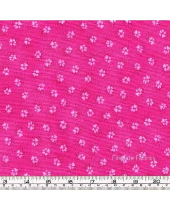DOGS & DOGGIES - PAW PRINT - PINK