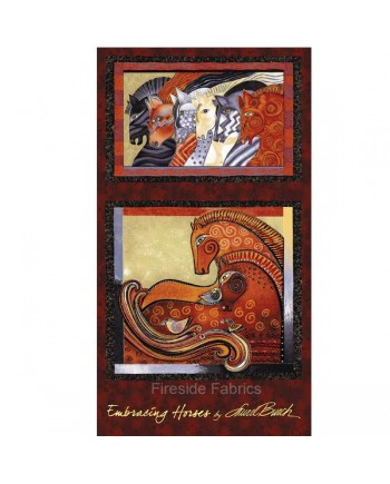 EMBRACING HORSES - PANEL - BRICK