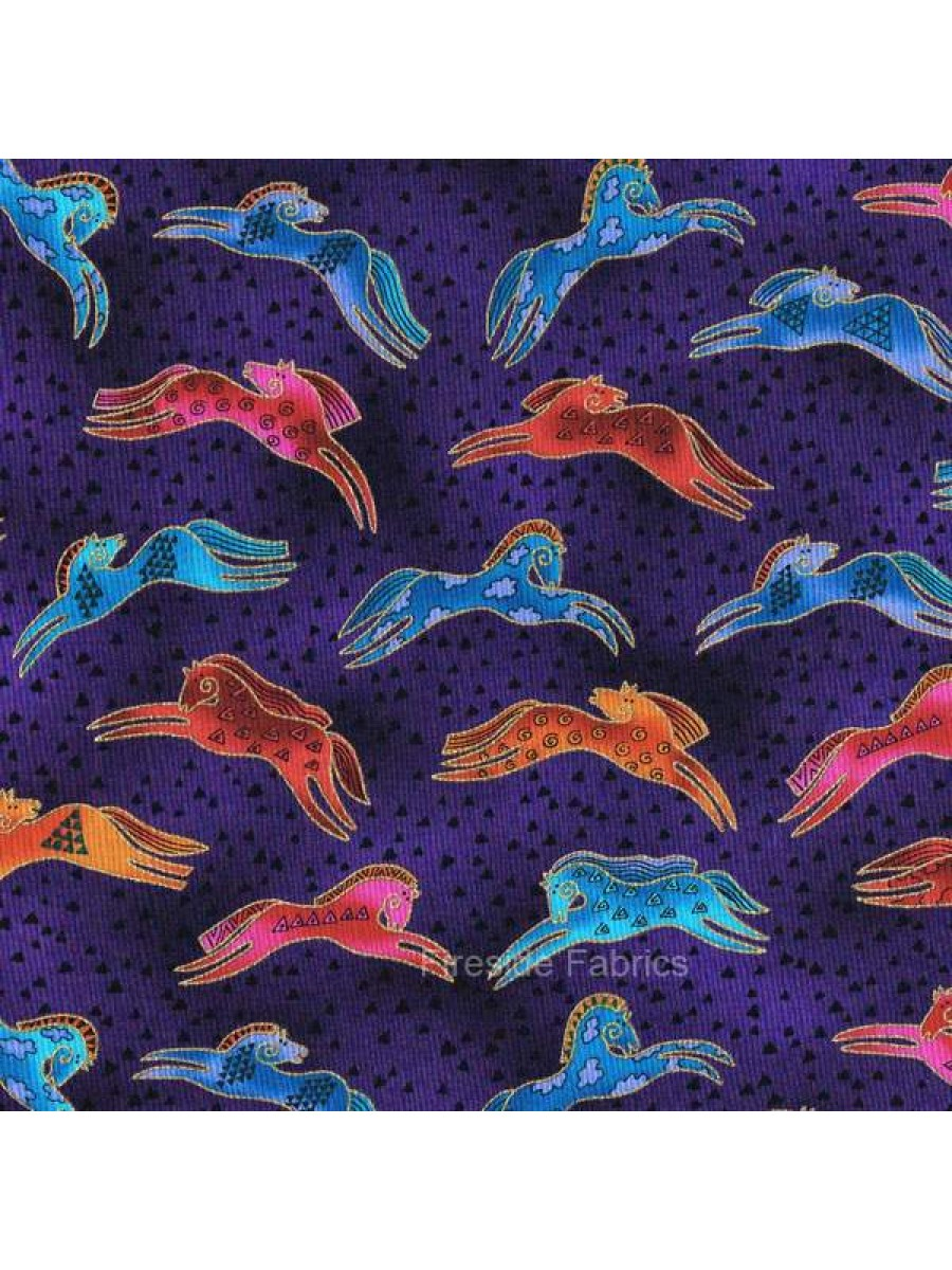 EMBRACING HORSES - LEAPING - PURPLE