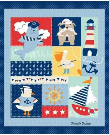 AHOY MATEY COT PANEL  (1 Left)