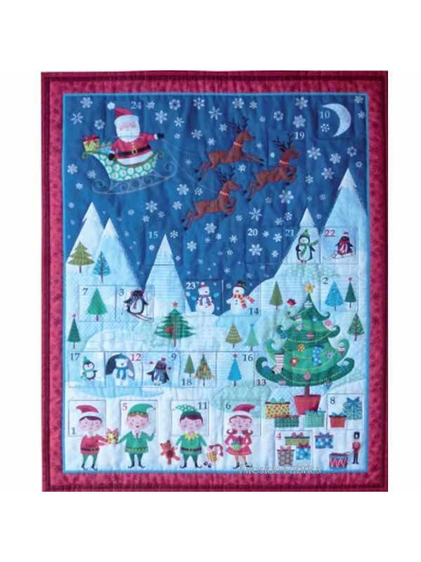 Frosty Advent Calender Kit Fireside Fabrics Quilting