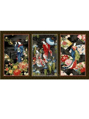GEISHA CHARM PANEL - BLACK