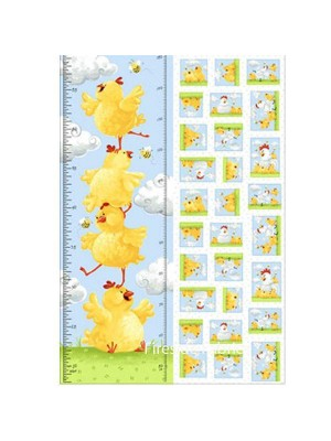 PIPPA THE HEN HEIGHT CHART PANEL