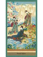 IMPERIAL COLLECTION GEISHA PANEL - TEAL BLUE