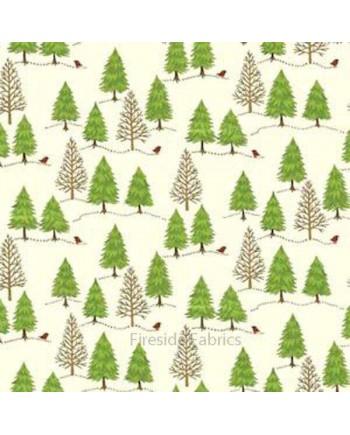 CHRISTMAS TREES - CREAM
