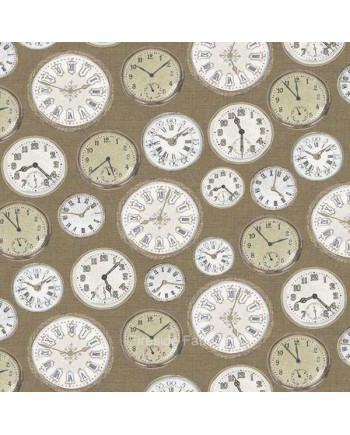 VINTAGE - CLOCKS - TAUPE
