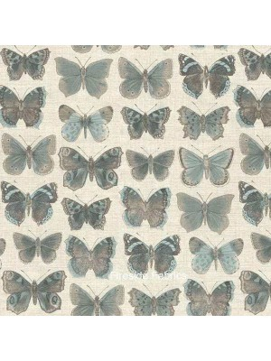 VINTAGE - BUTTERFLIES - TAUPE