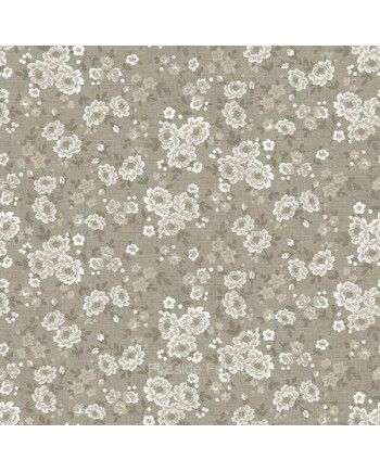 VINTAGE - SMALL BLOOMS - TAUPE