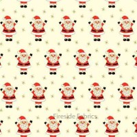 NOVELTY CHRISTMAS - SANTA - CREAM