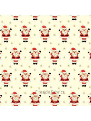 NOVELTY CHRISTMAS - SANTA - CREAM