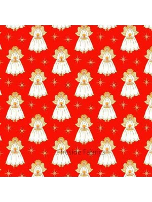 CHRISTMAS - ANGELS - RED