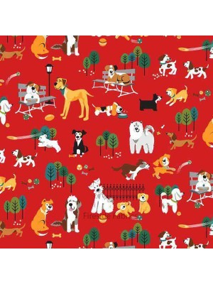 DOG PARK - DOGS - RED (2 Left)