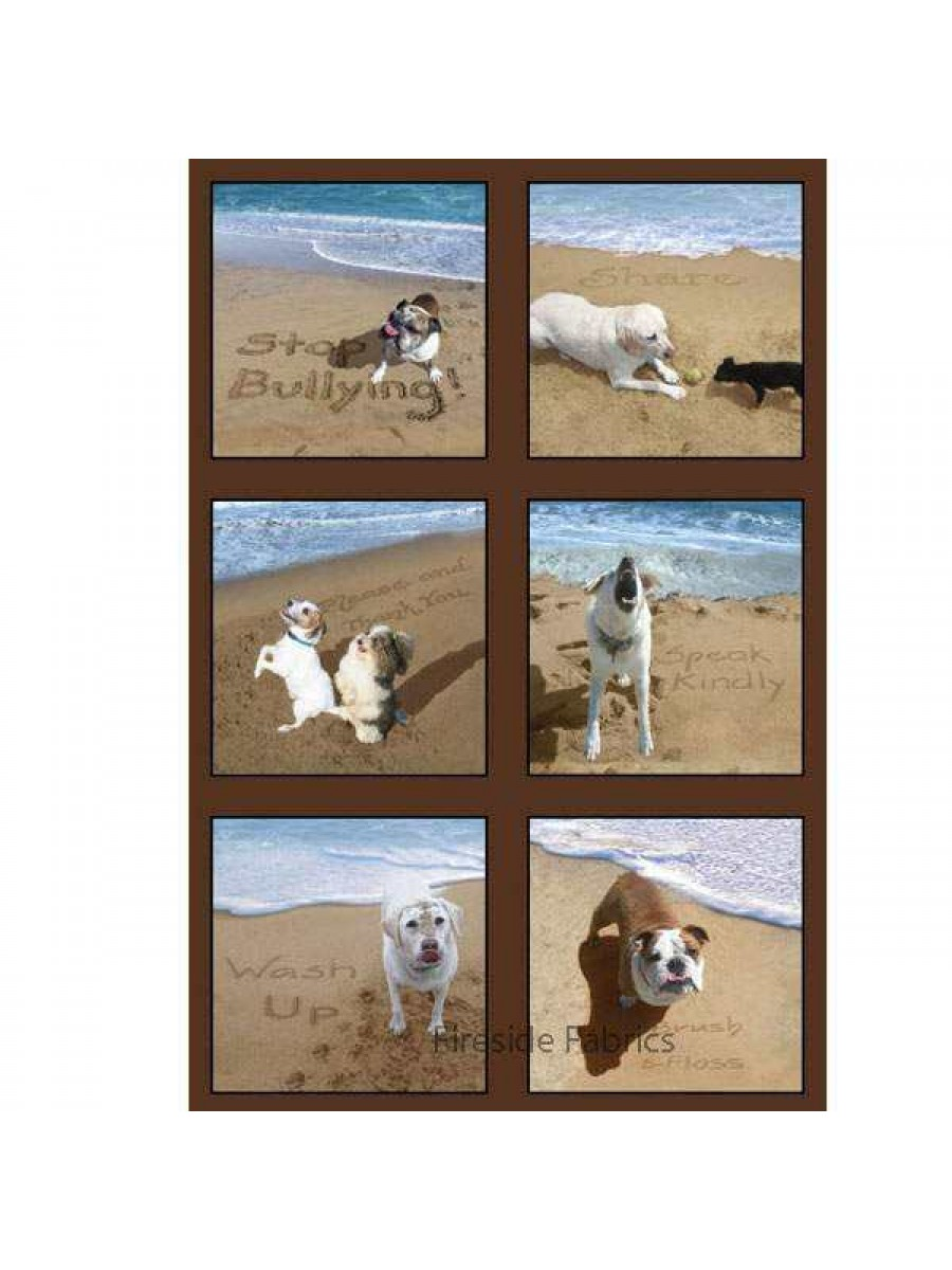 Dogs Sand Scribbles - Panel