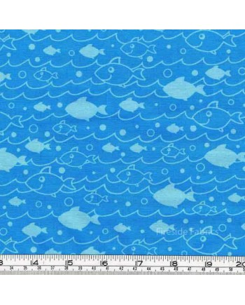 OCEANS OF FUN - FISH IN WAVES - LIGHT BLUE (2 Left)