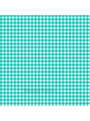 GINGHAM CHECK - TURQUOISE BLUE