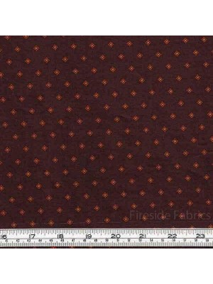 CATHERINE - MINI SQUARE MOTIF - DARK BROWN