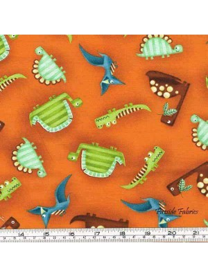 DINO-RIFFIC - SCATTER - ORANGE