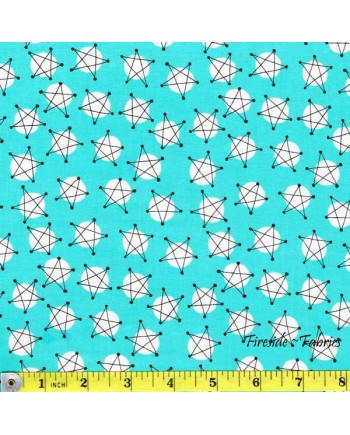AND Z - STARS - TURQUOISE BLUE