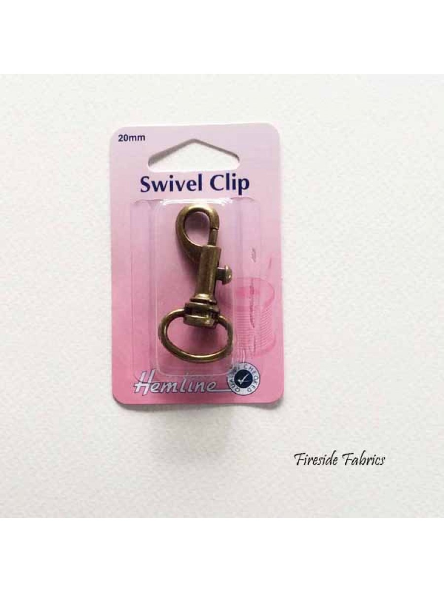 SWIVEL CLIP CURVED 20mm - BRONZE