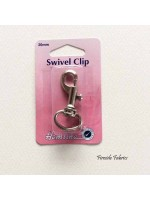 SWIVEL CLIP CURVED 20mm - NICKEL