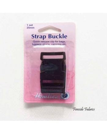 STRAP BUCKLE 25MM - BLACK
