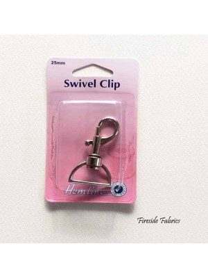 SWIVEL CLIP 25mm - NICKEL
