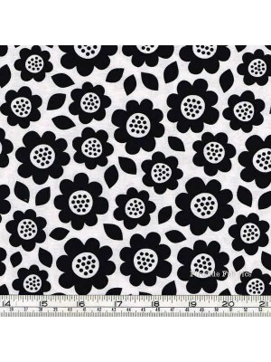 DOT AND DASH - LG FLOWERS - WHITE