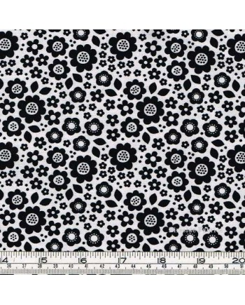 DOT AND DASH - FLOWERS - ALLOVER - WHITE