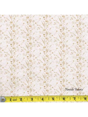 BLUE SKY - FLOWER STRIPE -CREAM