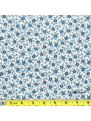 BLUE SKY - SML FLOWER - BLUE/CREAM