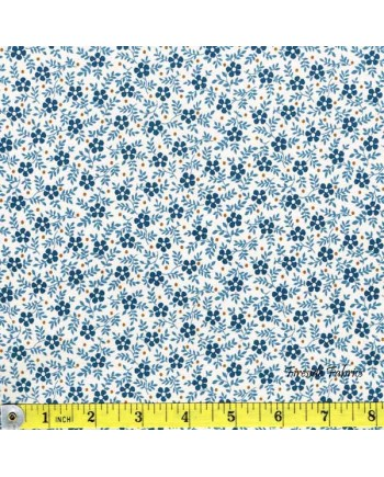 BLUE SKY - SML FLOWER - BLUE/CREAM (1 Left)