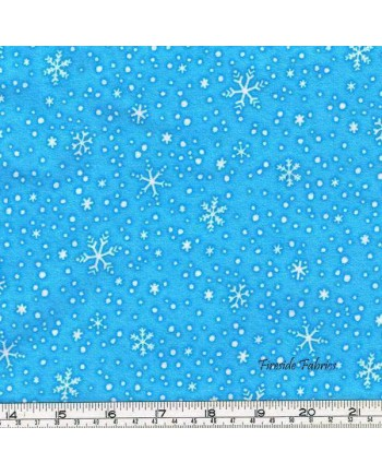 NORTH POLE GREETINGS - STARS - LIGHT BLUE - BRUSHED COTTON/FLANNEL