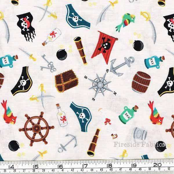 PIRATE ICONS - SCATTER - CREAM