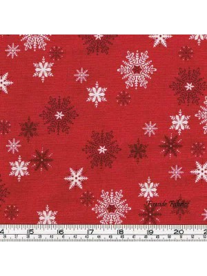 SCANDI 3 - SNOWFLAKES - RED