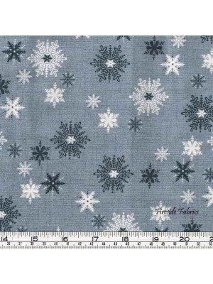 SCANDI 3 - SNOWFLAKES - GREY