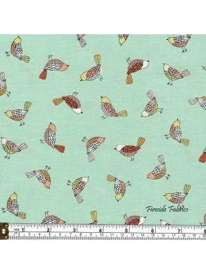 DOODLE DAYS - BIRDS - TURQUOISE GREEN