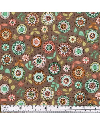 DOODLE DAYS - FLOWERS - BROWN