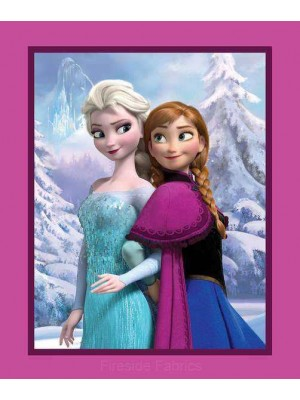 DISNEY FROZEN Lg PANEL - ELSA AND ANNA