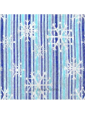 SNOWFLAKE STRIPE - BLUE