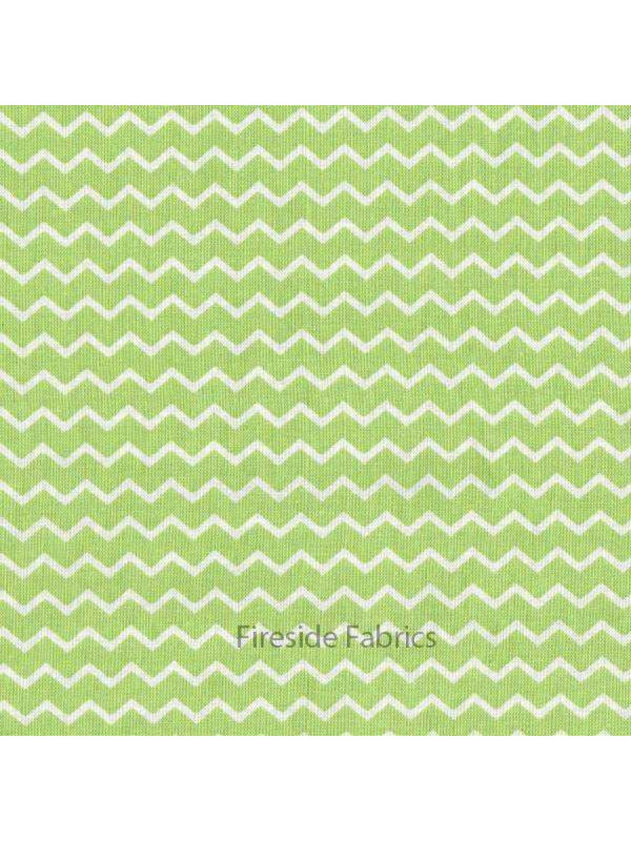 Notting Hill Chevron Green Fireside Fabrics Quilting