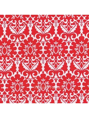 FENTON HOUSE - DAMASK - RED