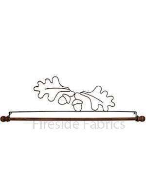 "ACORN & OAKLEAF WIRE QUILT HANGER  WITH DOWEL 16"" (41cm)"