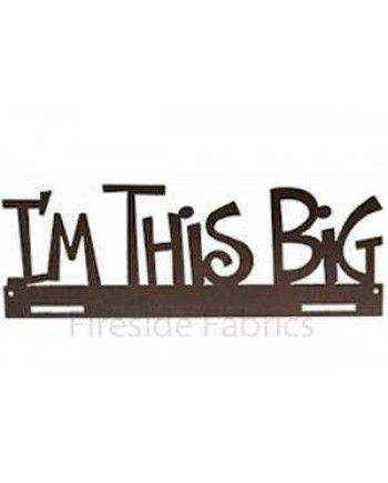"IM THIS BIG METAL QUILT HANGER - 14"" (36cm)-  CHARCOAL"