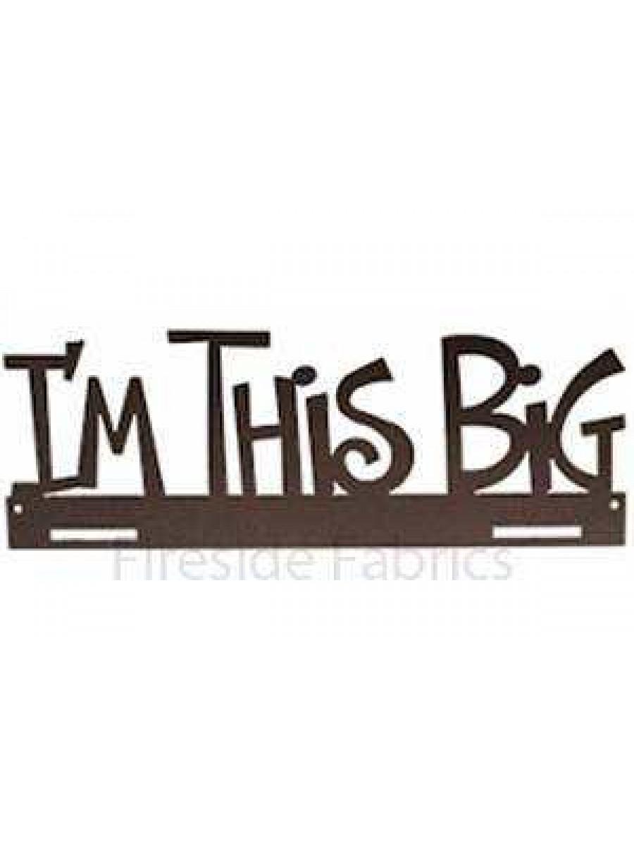 "IM THIS BIG METAL QUILT HANGER - 14"" (36cm)-  CHARCOAL"